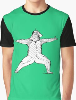 Yogi bear pose - Warrior 2  Graphic T-Shirt