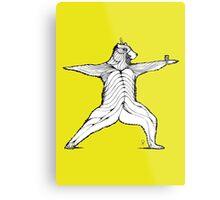 Yogi bear pose - Warrior 2  Metal Print