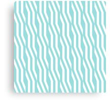 Zigzag geometric pattern in limpet shell Canvas Print