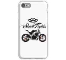 Motorcycle - StreetFighter Style - Knuckle - Skull - Tattoo iPhone Case/Skin