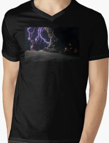 Cat Lightning  Mens V-Neck T-Shirt