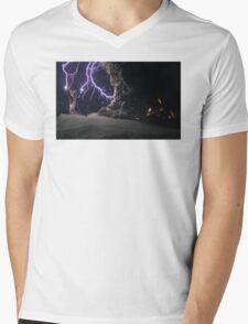Cat Lightning  Mens V-Neck T-Shirt