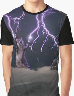 Cat Lightning  Graphic T-Shirt