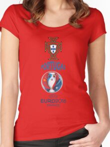 PORTUGAL WINNER 2016  Women's Fitted Scoop T-Shirt