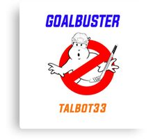 Edmonton Oilers Cam Talbot Goalbuster Ghostbusters Canvas Print