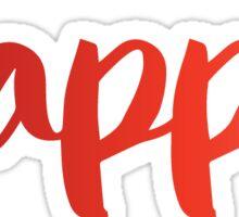 kappa red Sticker
