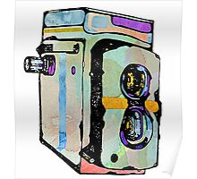 Water Colour Vintage Camera Poster