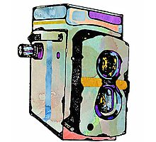 Water Colour Vintage Camera Photographic Print