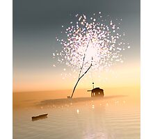 Barn on a magical island. Photographic Print