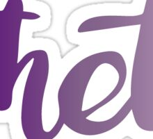 theta purple Sticker