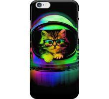 Cool kitten on the helmet iPhone Case/Skin