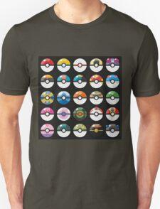 Pokemon Pokeball Black Unisex T-Shirt