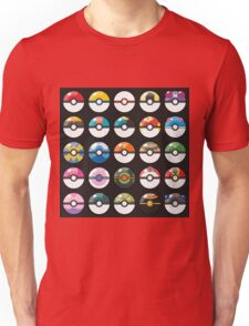 Pokemon Pokeball Black Unisex T-Shirt