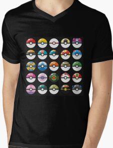 Pokemon Pokeball Black Mens V-Neck T-Shirt