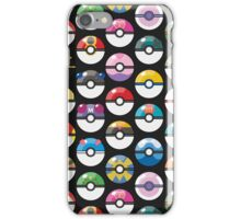 Pokemon Pokeball Black iPhone Case/Skin