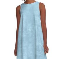 Aquamarine Oil Pastel Color Accent A-Line Dress