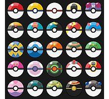 Pokemon Pokeball Black Photographic Print