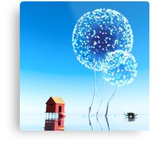 Small house and magical trees. Metal Print