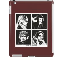 Game of 'Phones - Black and White edition. iPad Case/Skin