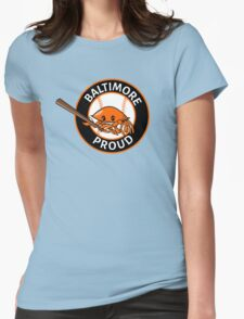 Baltimore Proud Baseball Womens Fitted T-Shirt