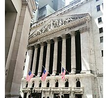 New York Stock Exchange Photographic Print