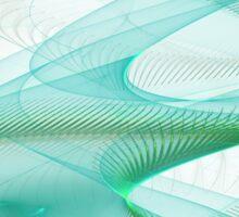 Swirls - Abstract Fractal Artwork Sticker