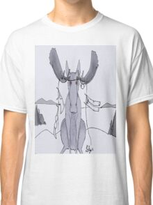 Angry Moose Stuck In A Clothesline Classic T-Shirt