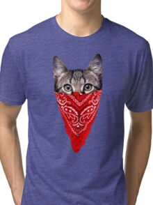 Gangster Cat Tri-blend T-Shirt