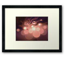 Swirly Bokeh - Abstract Fractal Artwork Framed Print