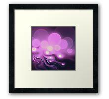 Purple Bokeh - Abstract Fractal Artwork Framed Print
