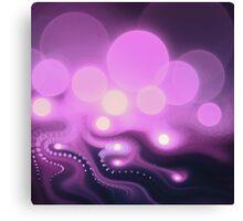 Purple Bokeh - Abstract Fractal Artwork Canvas Print