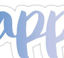 kappa light blue Sticker