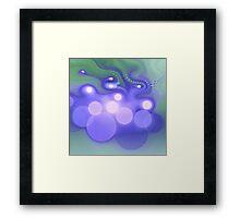 Blue Bokeh - Abstract Fractal Artwork Framed Print