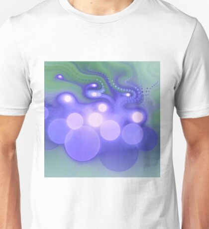Blue Bokeh - Abstract Fractal Artwork Unisex T-Shirt