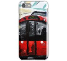 London Underground Piccadilly Line Tube Station Contemporary Acrylic Painting iPhone Case/Skin