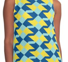 Abstract geometric pattern in 2016 colors Contrast Tank