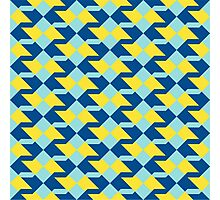 Abstract geometric pattern in 2016 colors Photographic Print