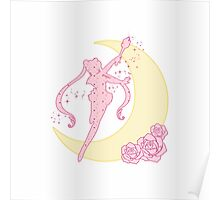 Sailor Moon Silhouette  Poster
