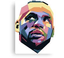 King LeBron ART Canvas Print