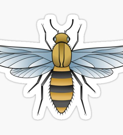 Bumblebee. Old school tattoo style Sticker
