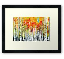 Autumn Aspen Trees Quaking Colorado Colorful Forest Framed Print