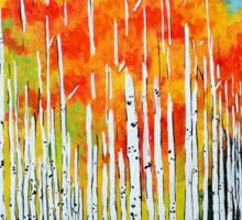 Autumn Aspen Trees Quaking Colorado Colorful Forest Sticker