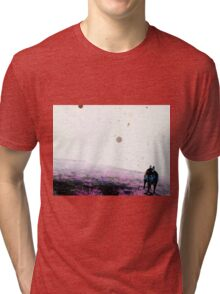 Color Negative Of Dallas And Orbs Tri-blend T-Shirt
