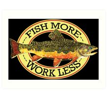 Humorous Fishing Art Print