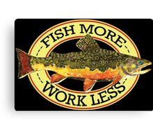 Humorous Fishing Canvas Print