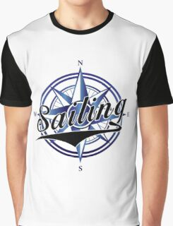 Retro Sailing Compass Graphic T-Shirt