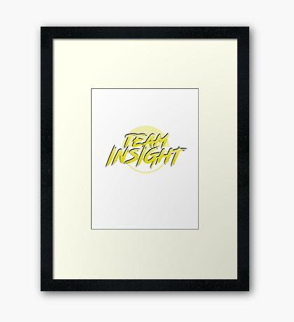 Pokemon Go Team Insight Framed Print