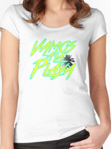 Vamos A La Playa Women's Fitted Scoop T-Shirt