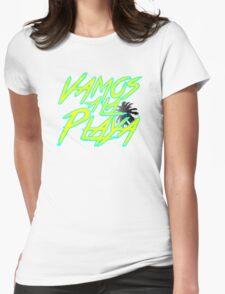 Vamos A La Playa Womens Fitted T-Shirt