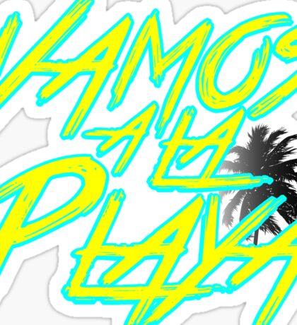 Vamos A La Playa Sticker